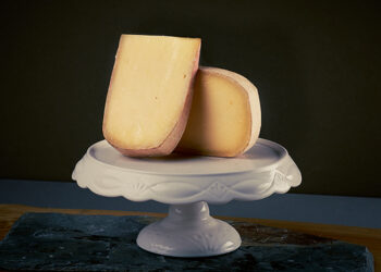 This is a picture of Pleasant Ridge Reserve cheese, featured by Fromagination