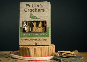 This is a picture of Potter's Herbes de Provence Crackers offered by Fromagination