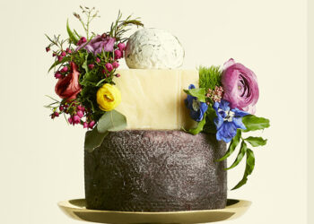 This is a picture of the Derby Hat Cake of Cheese from Fromagination.