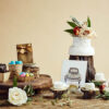 This is a picture of wedding items from Fromagination.
