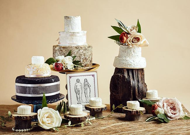 This is a picture of cakes of cheese from Fromagination.