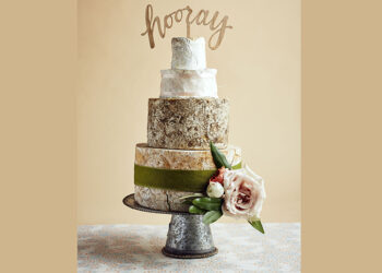 This is a picture of the Hooray Cake of Cheese from Fromagination.
