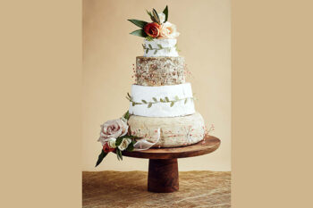 This is a picture of the Spring Blooms Cake of Cheese from Fromagination.