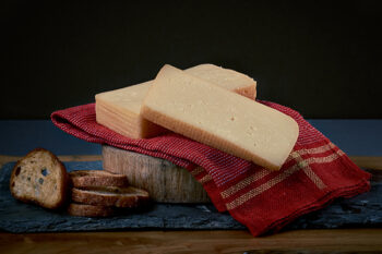 This is a picture of aged Brick cheese, featured at Fromagination