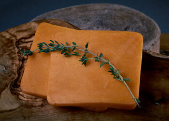 This is a picture of Colby cheese, from Widmer's, featured at Fromagination