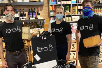 Cheesemongers wearing the t-shirt
