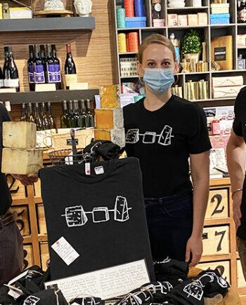 Cheesemongers wearing the t-shirt