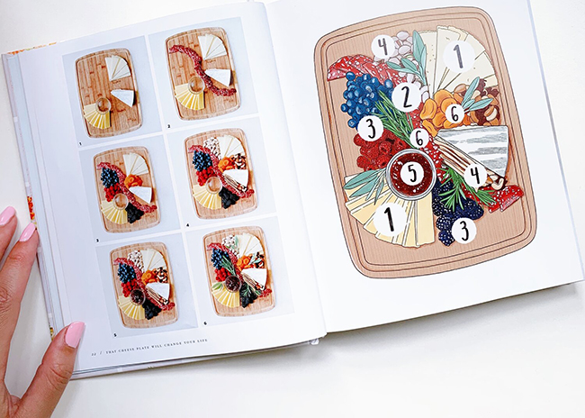 This is a picture of an inside page of That Cheese Plate Will Change Your Life book, featured by Fromagination
