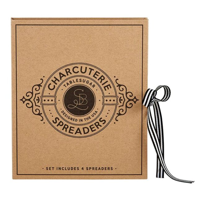 This is an image of the packaging for the charcuterie spreaders.