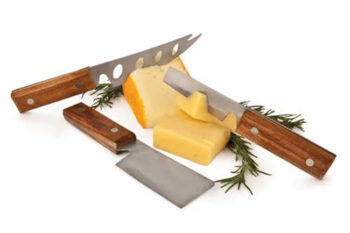 This is a picture of a cheese knife set, offered by Fromagination.
