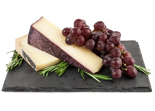 This is a picture of a slate cheese board, offered by Fromagination.