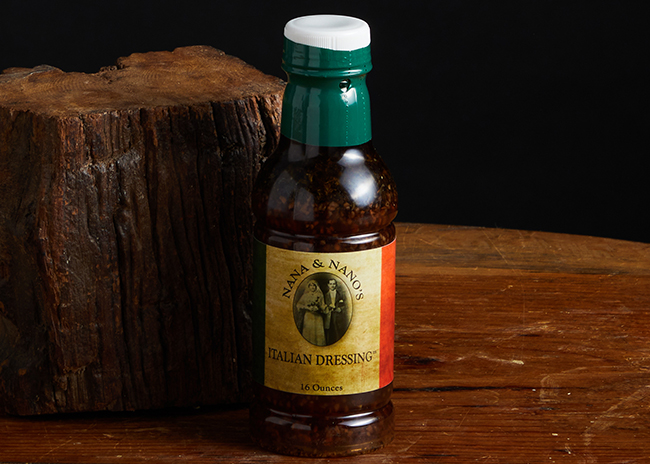 This is a picture of Nano and Nana's Salad Dressing, offered by Fromagination.