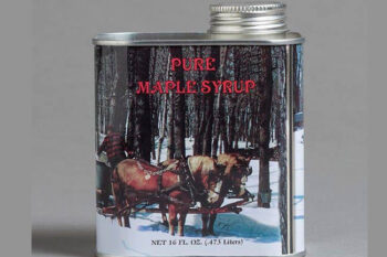 This is a picture of Vermont maple syrup, offered by Fromagination.