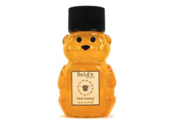 This is a picture of a honey bear container, offered by Fromagination.