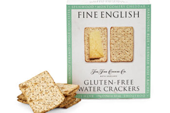 This is a picture of gluten-free water crackers, offered by Fromagination.