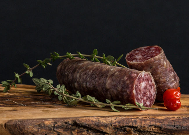 This is a picture of Saucisson Sec, featured at Fromagination.