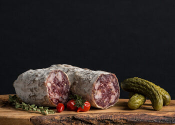 This is a picture of Soppressata, featured at Fromagination.