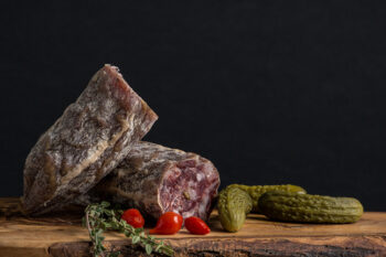 This is a picture of Tuscan salami, featured at Fromagination.
