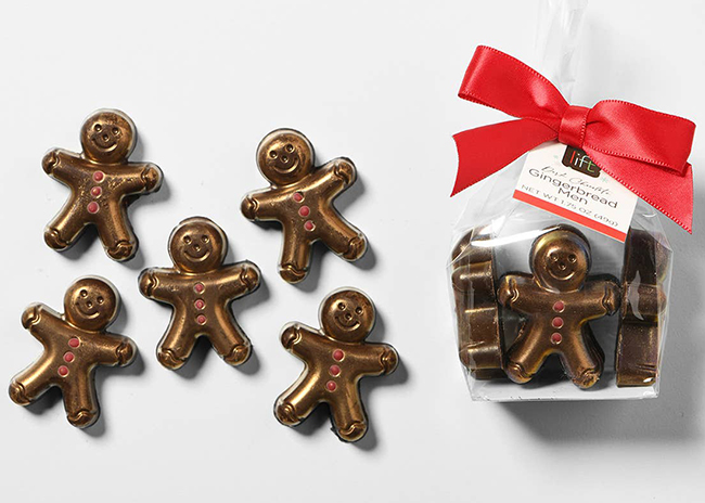 This is a picture of five gingerbread people, offered by Fromagination.