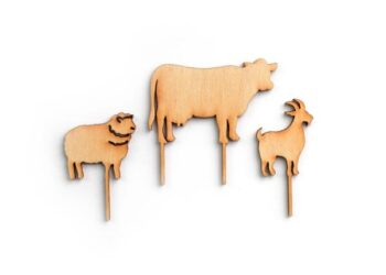 This is an image of three picks shaped like animals.
