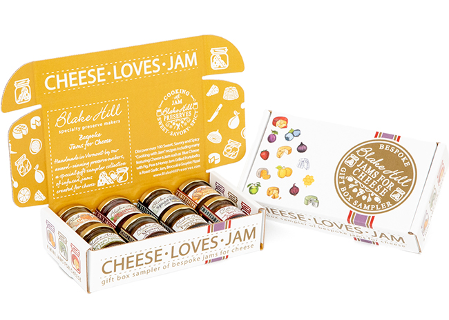 This is a picture of a jam gift set, featured at Fromagination