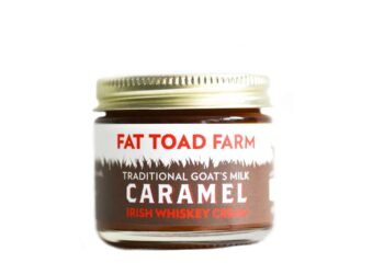 This is an image of Fat Toad Farm's caramels, irish whiskey cream flavored.
