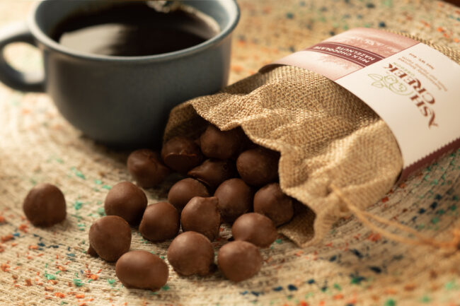 This is an image of milk chocolate hazelnuts.