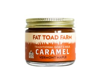 This is an image of Fat Toad Farm's caramels, maple flavored.