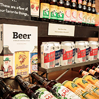 This is a picture of Fromagination's beer selection