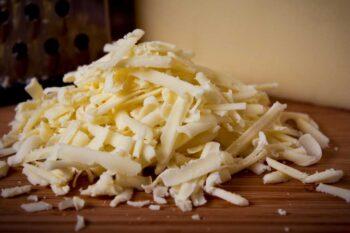 This is an image of shredded cheese.