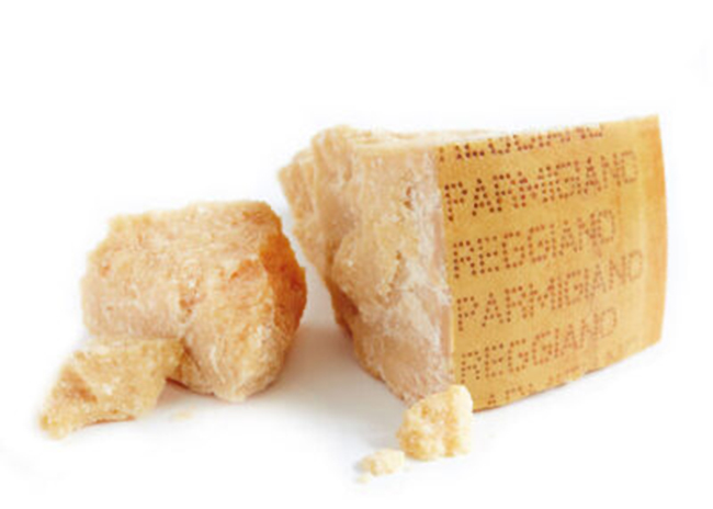 This is a picture of Parmagiano Reggiano cheese, featured at Fromagination.
