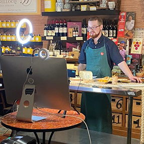 This is a picture of a Fromagination online cheese class.