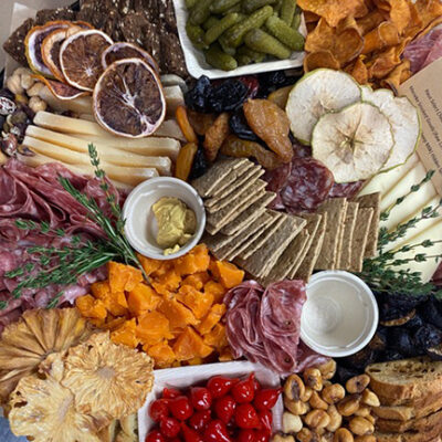 This is a picture of a Fromagination cheese board
