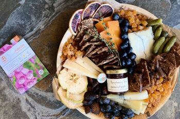 This is a picture of Fromagination's Mother's Day Cheese Tray