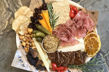 This is a picture of Fromagination's Father's Day Cheese Tray with Meat