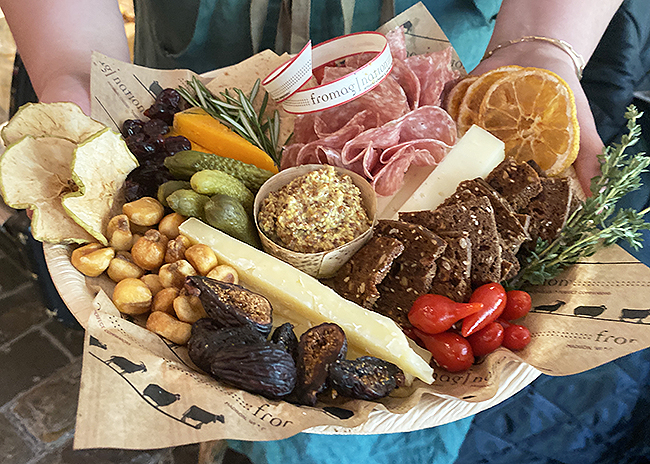 This is a picture of Fromagination's Father Day Cheese Tray with Meat