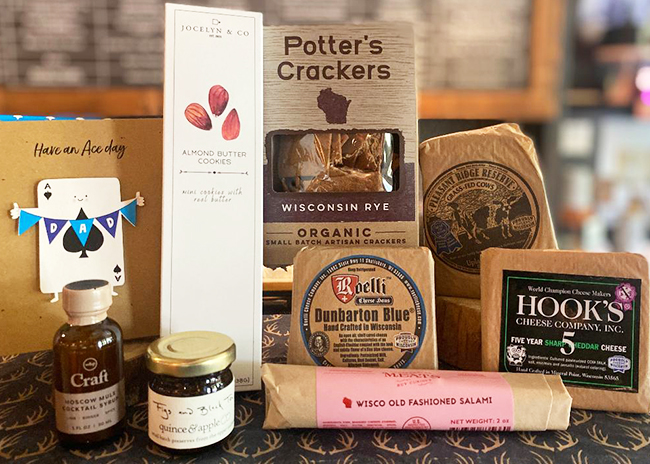 This is a picture of Fromagination's Father's Day Gift Set with Meat