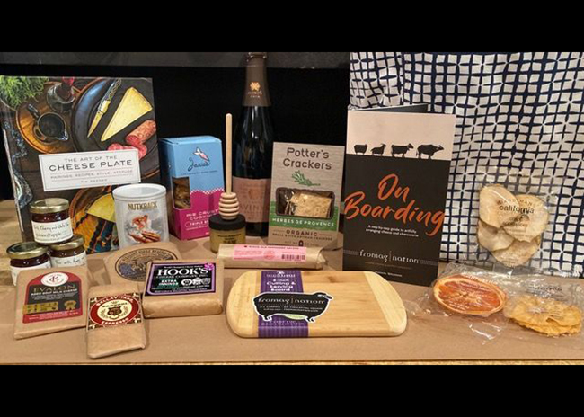 This is a picture of the prize for theSoiree Cheese Board Kit from Fromagination
