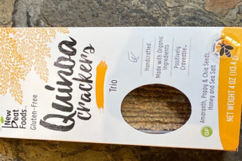 This is a picture of Trio Quinoa Crackers, featured by Fromagination.