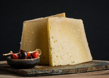 This is a picture of Eiger Mountain cheese, offered by Fromagination.