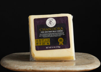 This is a picture of Cave-aged Chandoka cheese, offered by Fromagination.
