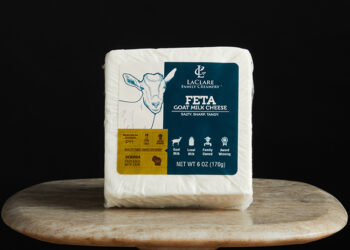 This is a picture of LaClare Goat Milk Feta cheese, offered by Fromagination.