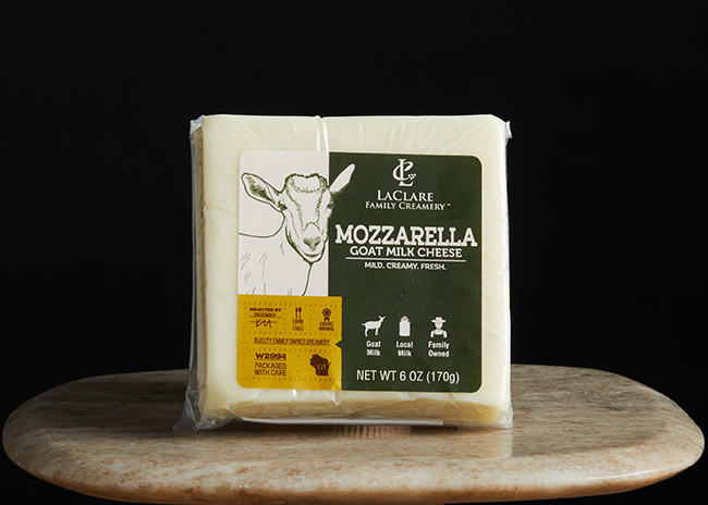 This is a picture of Goat Milk Mozzarella cheese, offered by Fromagination.