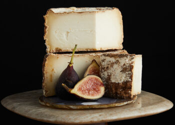 This is a picture of Rebel Miel cheese, featured at Fromagination.
