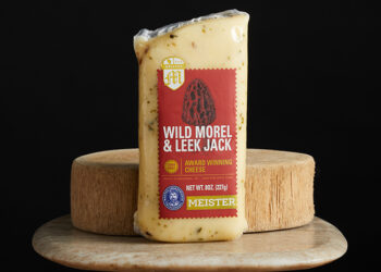 This is a picture of Meister Wild Morel & Leek Jack cheese, offered by Fromagination.