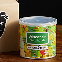 This is a picture of a Wisconsin state puzzle, offered by Fromagination.
