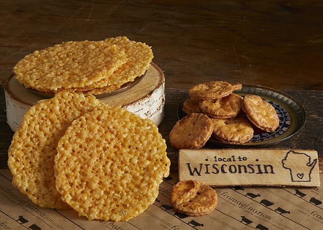 This is a picture of Fromagination's Parmesan Cheese Crisps.