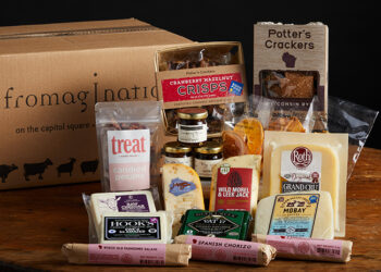 This is a picture of the Magnificent Seven Gift Set, offered by Fromagination.