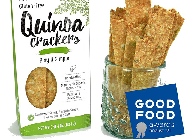 This is a picture of Play It Simple flavor Quinoa Crackers, offered by Fromagination.