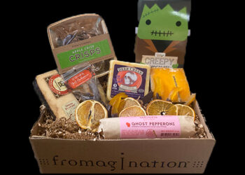This is a picture of the All Treats no Trick Cheesy offered by Fromagination.
